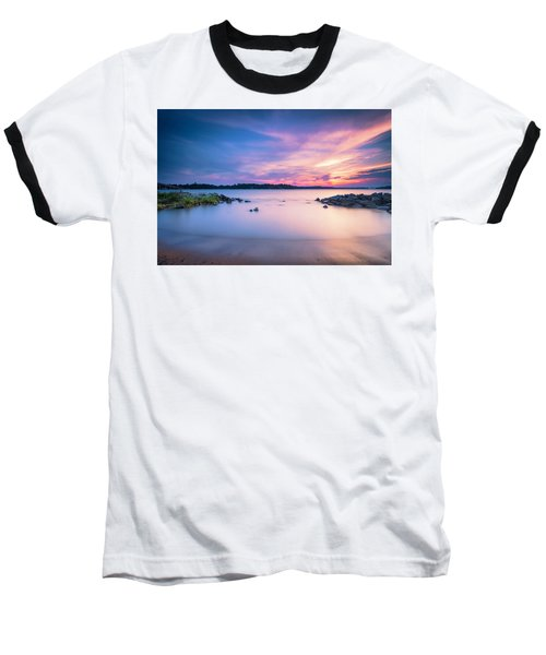 June Sunset On The River Baseball T-Shirt