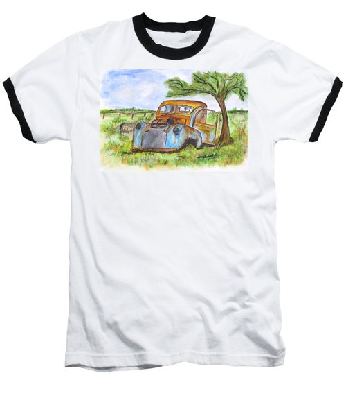 Junk Car And Tree Baseball T-Shirt