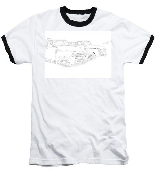 Junkyard Finds Baseball T-Shirt by Jeffrey Jensen