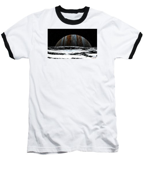 Baseball T-Shirt featuring the digital art Jupiter Rise At Europa by David Robinson