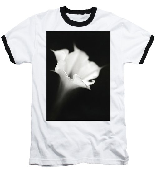 Baseball T-Shirt featuring the photograph Just A White Flower by Eduard Moldoveanu