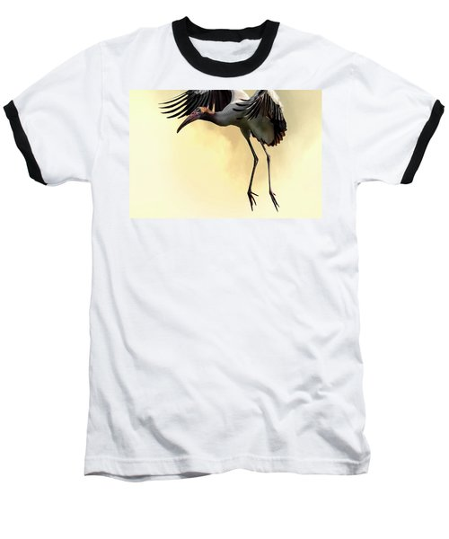 Just Dropping In Baseball T-Shirt by Cyndy Doty