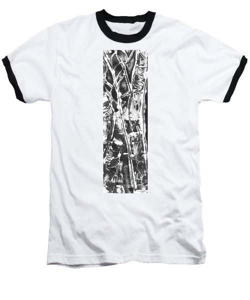 Baseball T-Shirt featuring the painting Justice by Carol Rashawnna Williams