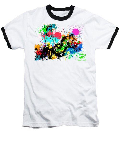 Justify Pop Art Baseball T-Shirt