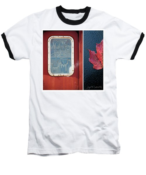 Juxtae #14 Baseball T-Shirt by Joan Ladendorf