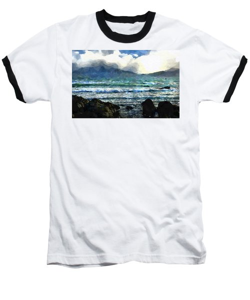 Kaikoura Seascape Baseball T-Shirt by Kai Saarto