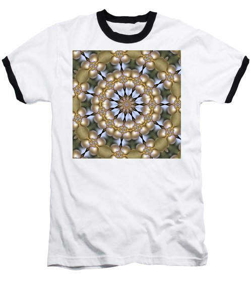 Baseball T-Shirt featuring the digital art Kaleidoscope 130 by Ron Bissett