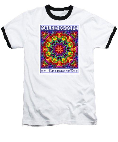 Baseball T-Shirt featuring the digital art Kaleidoscope 2 by Charmaine Zoe
