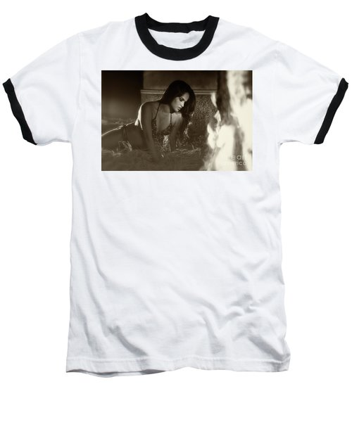 Kamasutra Girl 3 Baseball T-Shirt by Kiran Joshi