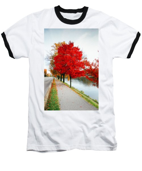 Kanawha Boulevard In Autumn Baseball T-Shirt