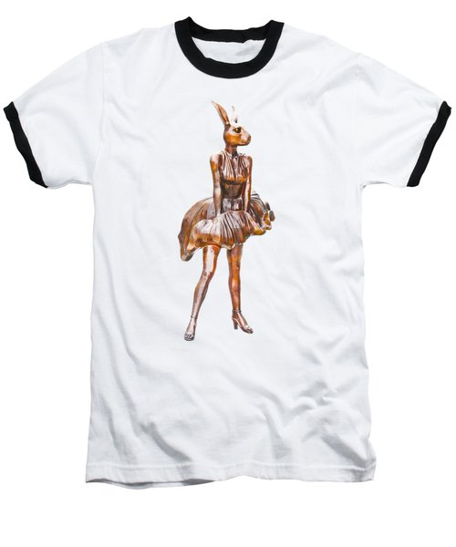 Kangaroo Marilyn Baseball T-Shirt by Susan Vineyard