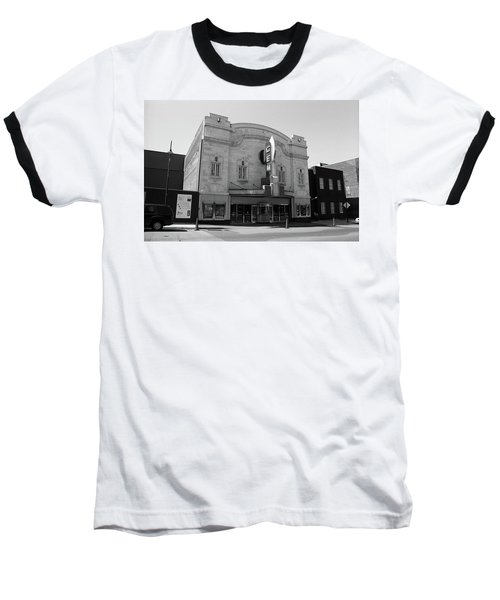 Baseball T-Shirt featuring the photograph Kansas City - Gem Theater Bw by Frank Romeo