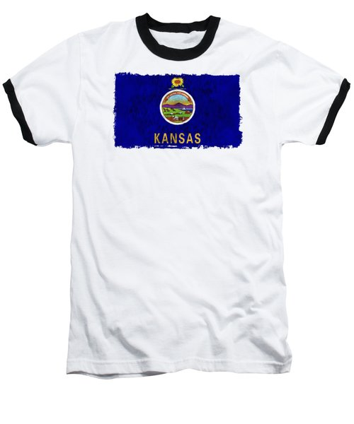 Kansas Flag Baseball T-Shirt