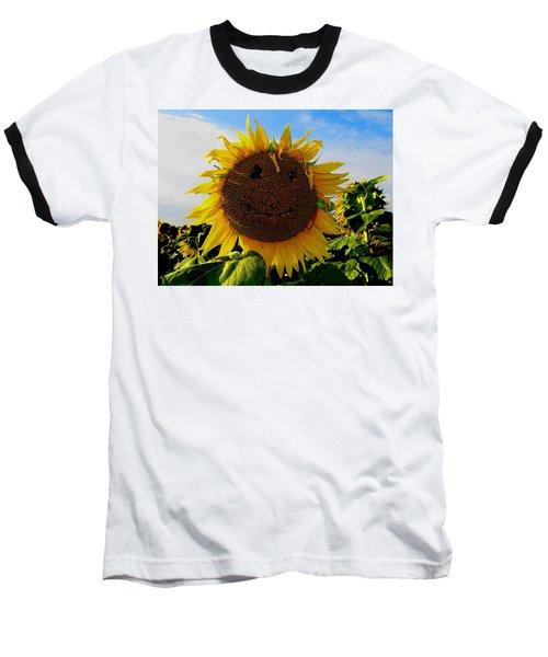 Kansas Sunflower Baseball T-Shirt by Keith Stokes