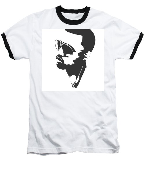 Kanye West Silhouette Baseball T-Shirt by Dan Sproul