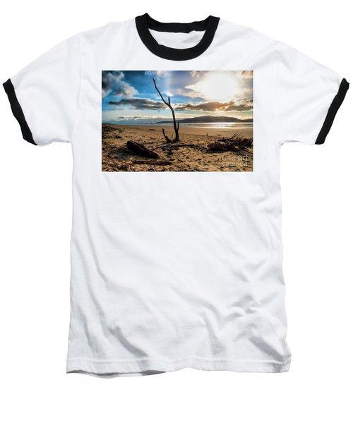 Kapiti Sunset Baseball T-Shirt by Karen Lewis