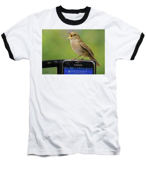 Karaoke Wren Baseball T-Shirt