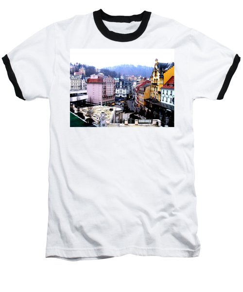 Baseball T-Shirt featuring the photograph Karlovy Vary Cz by Michelle Dallocchio