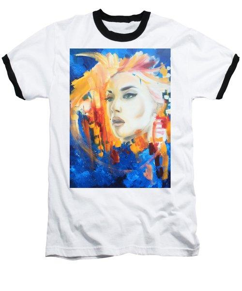 Kate Winslet Baseball T-Shirt by Matt Burke
