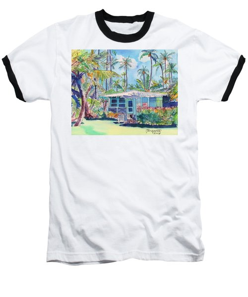 Kauai Blue Cottage 2 Baseball T-Shirt