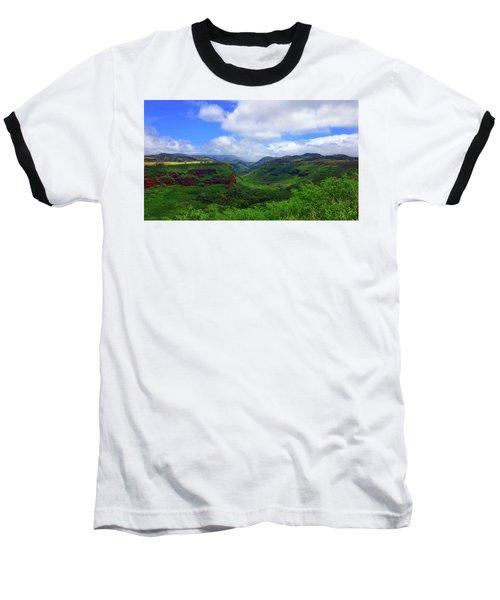 Kauai Mountains Baseball T-Shirt