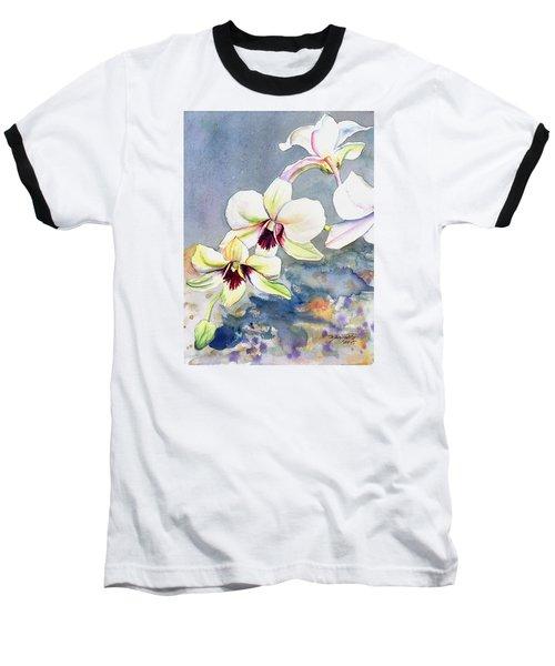 Kauai Orchid Festival Baseball T-Shirt by Marionette Taboniar