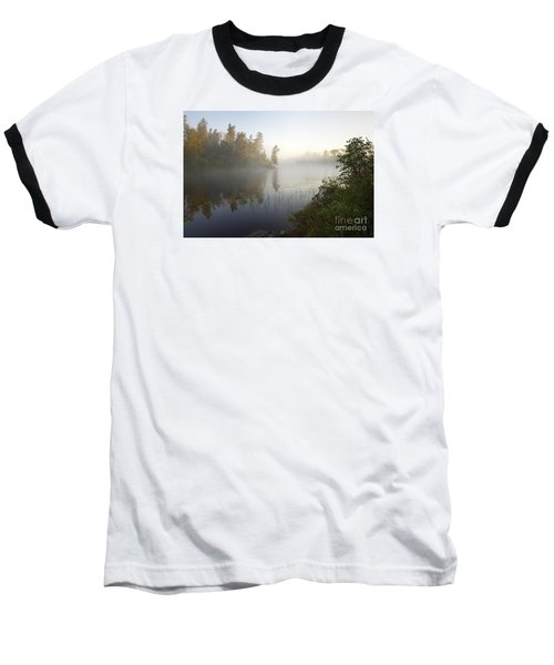 Baseball T-Shirt featuring the photograph Kawishiwi Morning Fog by Larry Ricker