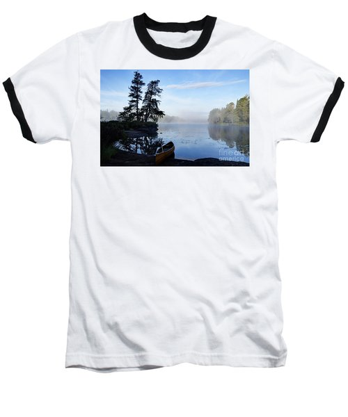Baseball T-Shirt featuring the photograph Kawishiwi Morning by Larry Ricker