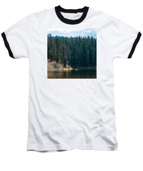 Kayakers Baseball T-Shirt by Cathy Donohoue