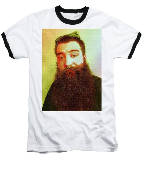 Baseball T-Shirt featuring the digital art Keefer Mosaic by Shawn Dall