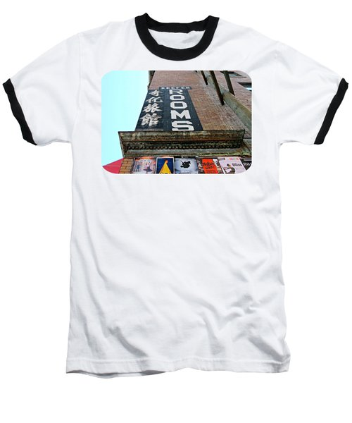 Keefer Rooms Baseball T-Shirt by Ethna Gillespie