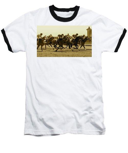 Keenland Sepia Baseball T-Shirt by Dan Hefle