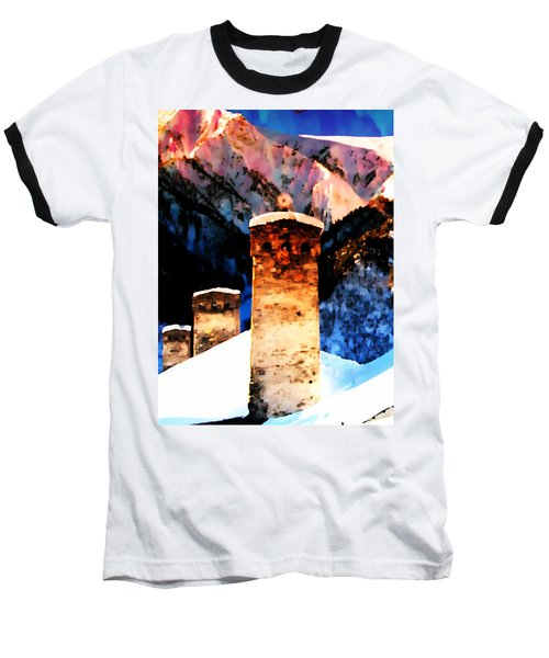 Keeper Of The Light Adishi Svaneti Baseball T-Shirt by Anastasia Savage Ealy