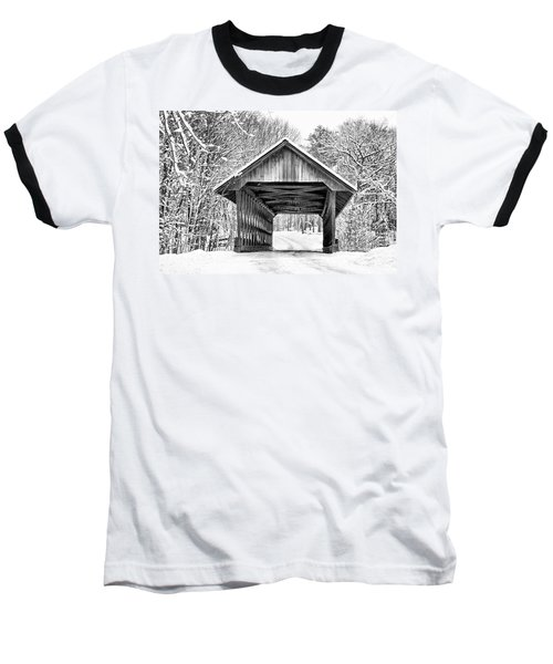 Keniston Covered Bridge  Baseball T-Shirt
