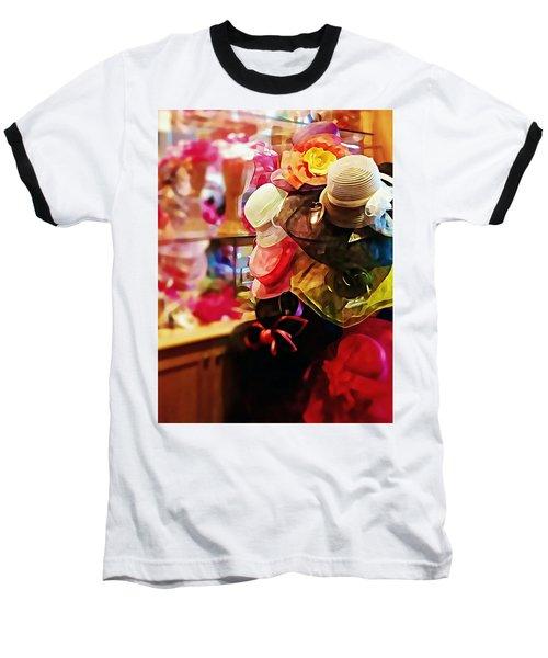 Baseball T-Shirt featuring the photograph kentucky Derby Hats by Robin Regan
