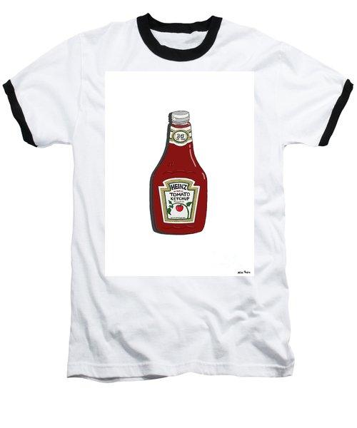 Ketchup Baseball T-Shirt by George Pedro