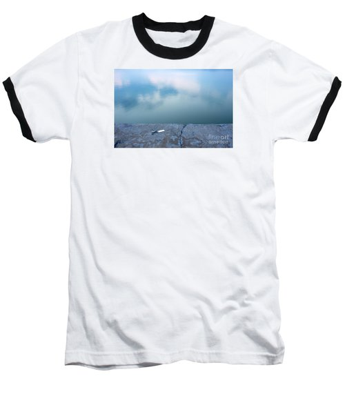 Baseball T-Shirt featuring the photograph Key On The Lake Shore by Odon Czintos