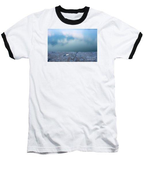 Key On The Lake Shore Baseball T-Shirt by Odon Czintos