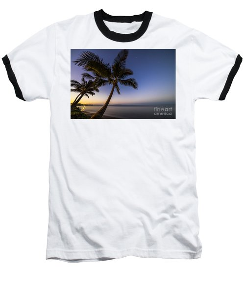Kihei Maui Hawaii Palm Tree Sunrise Baseball T-Shirt