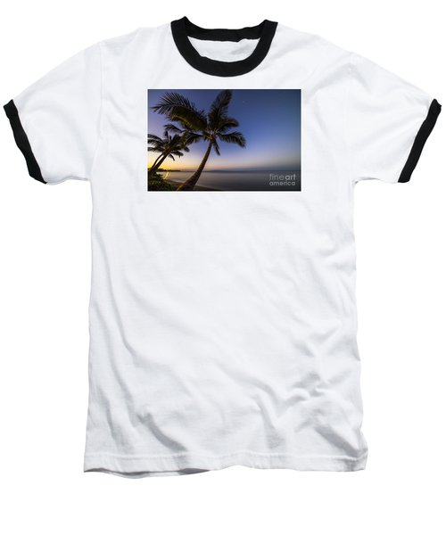 Kihei Maui Hawaii Palm Tree Sunrise Baseball T-Shirt