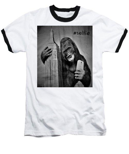 King Kong Selfie B W  Baseball T-Shirt