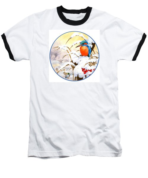 Kingfisher Plate Baseball T-Shirt