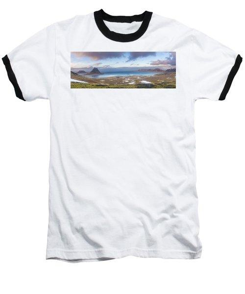 Kirkjufell And Grundarfjordur From On High Baseball T-Shirt