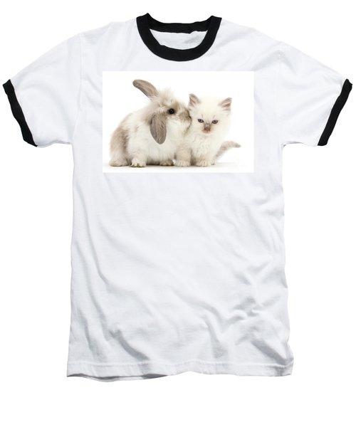 Kiss Her Fluffy Cheek Baseball T-Shirt