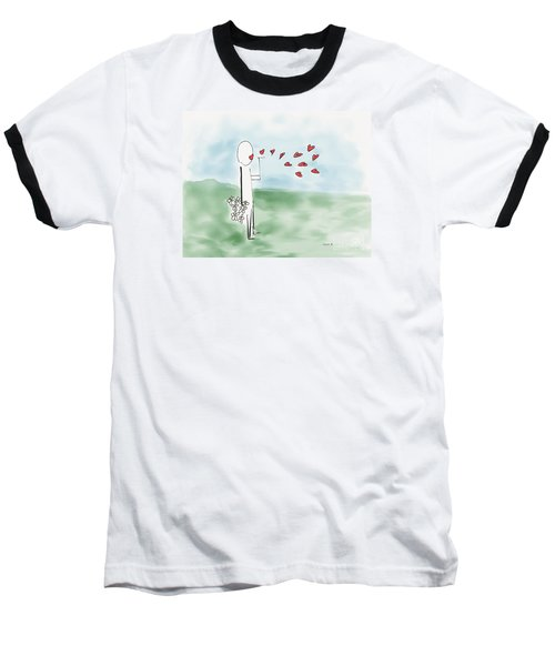 Baseball T-Shirt featuring the photograph Kisses And Love   by Haleh Mahbod