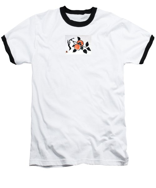 Kissing Persimmons Baseball T-Shirt