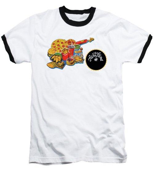 Kitchen Illustration Of Menu Of Fast Food  Baseball T-Shirt