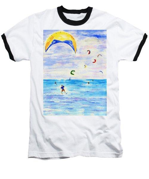 Kite Surfer Baseball T-Shirt