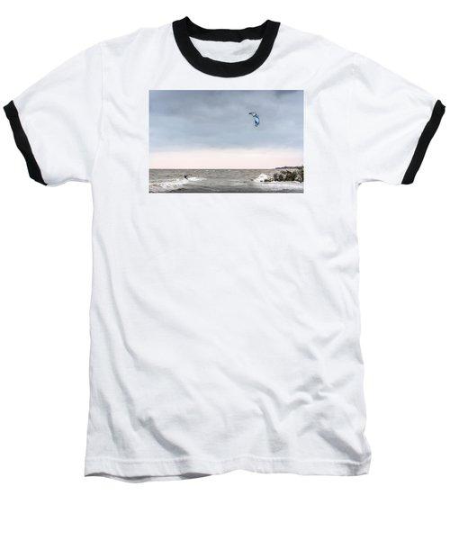 Kite Surfing On The Chesapeake Bay Baseball T-Shirt