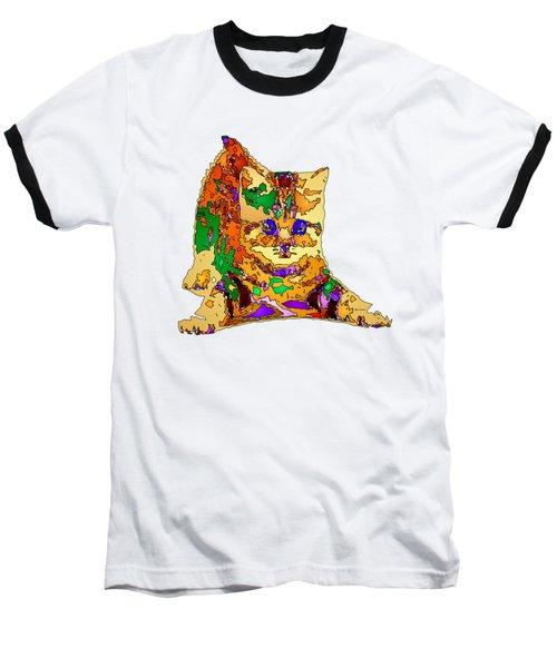 Kitty Love. Pet Series Baseball T-Shirt by Rafael Salazar